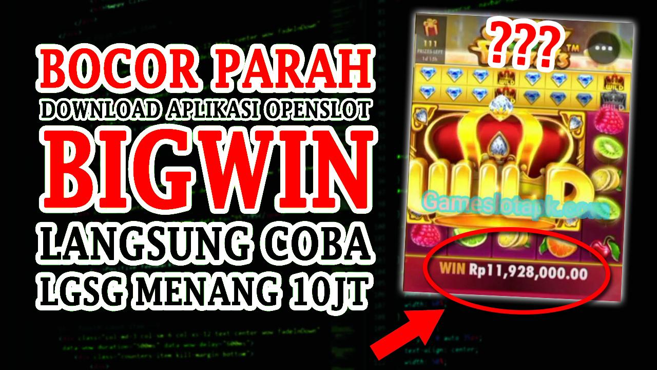 Downdload Aplikasi Open Slot Disini Slot Gacor Dah Pokonya !